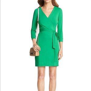DVF Julian Classic Green Wrap Dress